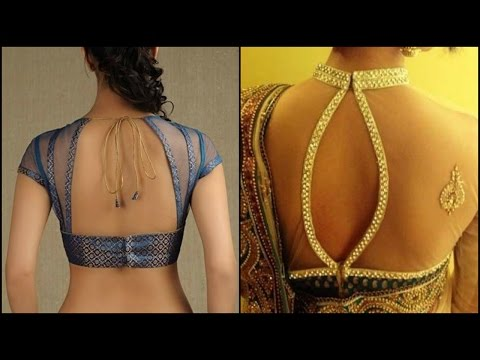 19 New Net Blouse Designs Photos ||  19  नेट ब्लाउज डिजाइन के चित्र   ( With Voice Over )