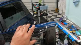 Window Tint Precut Method for Guys who like to Peel on Car....  Video 1 of 1