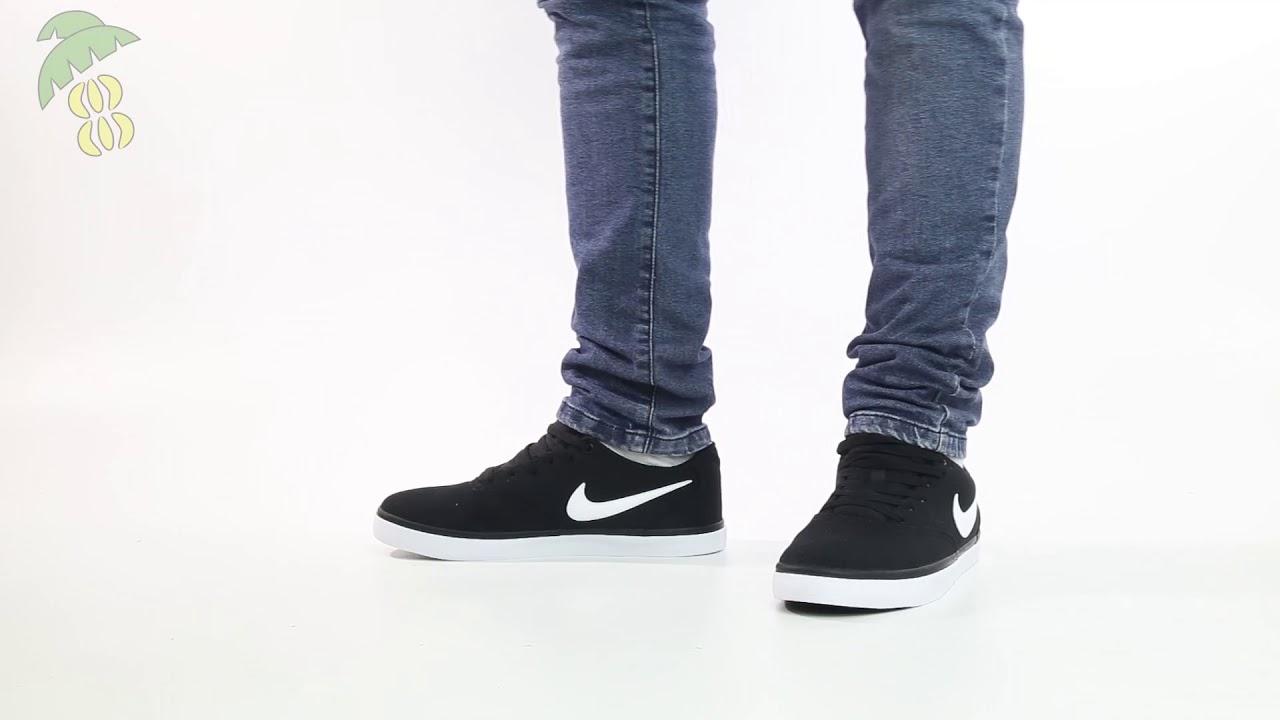 Nike Sb Check Solar Cnvs Negro Sku 72199 Platanitos Youtube