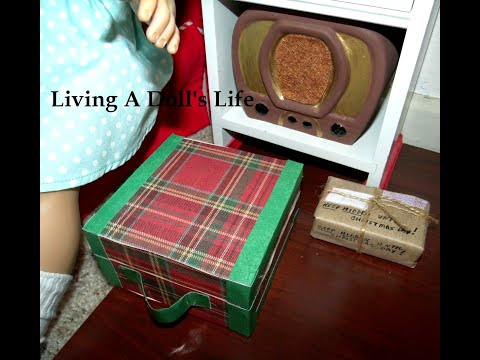 How To Make American Girl Molly's Plaid Suitcase