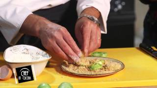 Chef in Cucina - Pomodori verdi fritti