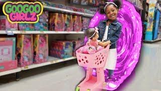 Toy Shopping Through Magic Portal! (Hide & Seek with Goo Goo Girlz & More)