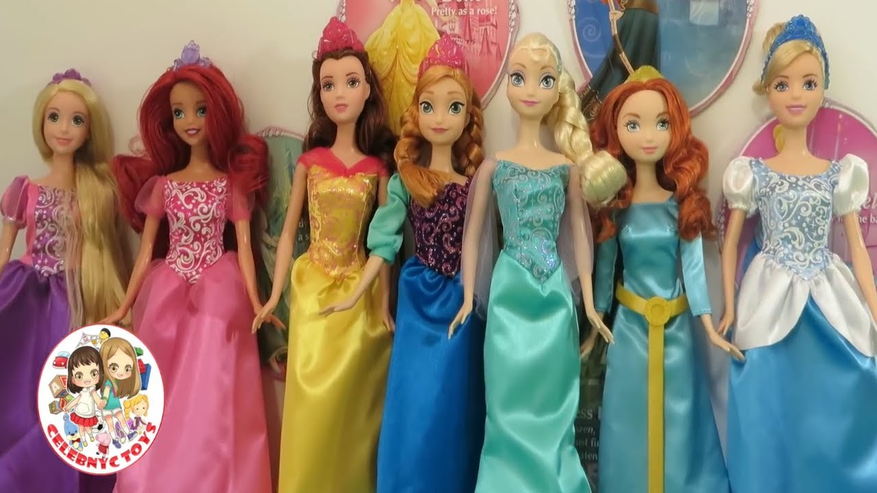Disney Princess Party Set 6 Princesses Anna Elsa Rapunzel Ariel