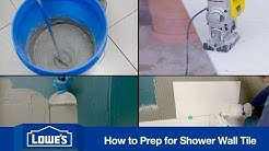 How To Prep and Tile a Shower