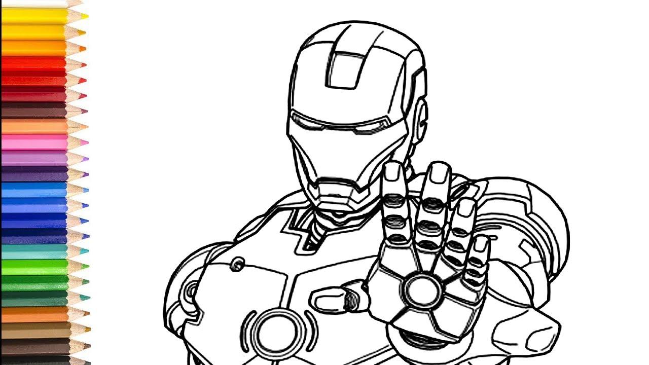 Marvel Ausmalbilder - wie man Marvel zeichnet lernen kinder - YouTube