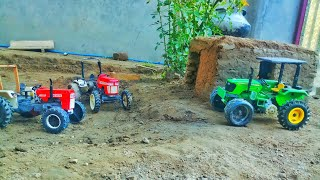 Toy Tractors in the farmhouse