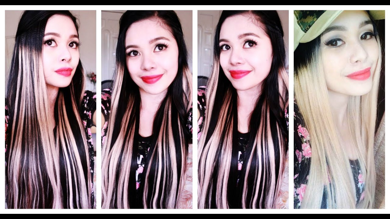 Temporary Faux Dip Dye Highlights On My Hair Beautyklove Youtube