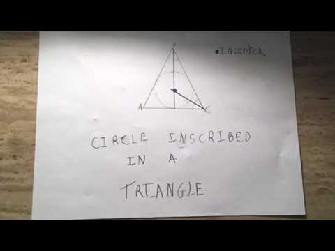 •HOW TO CONSTRUCT A CIRCLE INSCRIBED IN A TRIANGLE|| HOW TO CIRCUMSCRIBE A TRIANGLE IN A CIRCLE~