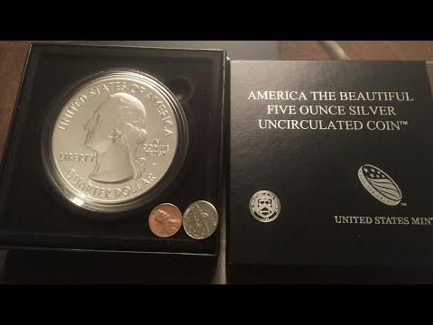Moneda de 5.000 Troy oz. 999 fine silver -$$(unboxing)$$-