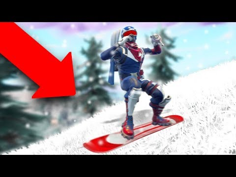So I Went SNOWBOARDING In Fortnite... *SNOW MAP!* | Fortnite Battle Royale thumbnail