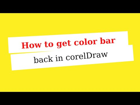 How to get color bar back in corelDraw ?