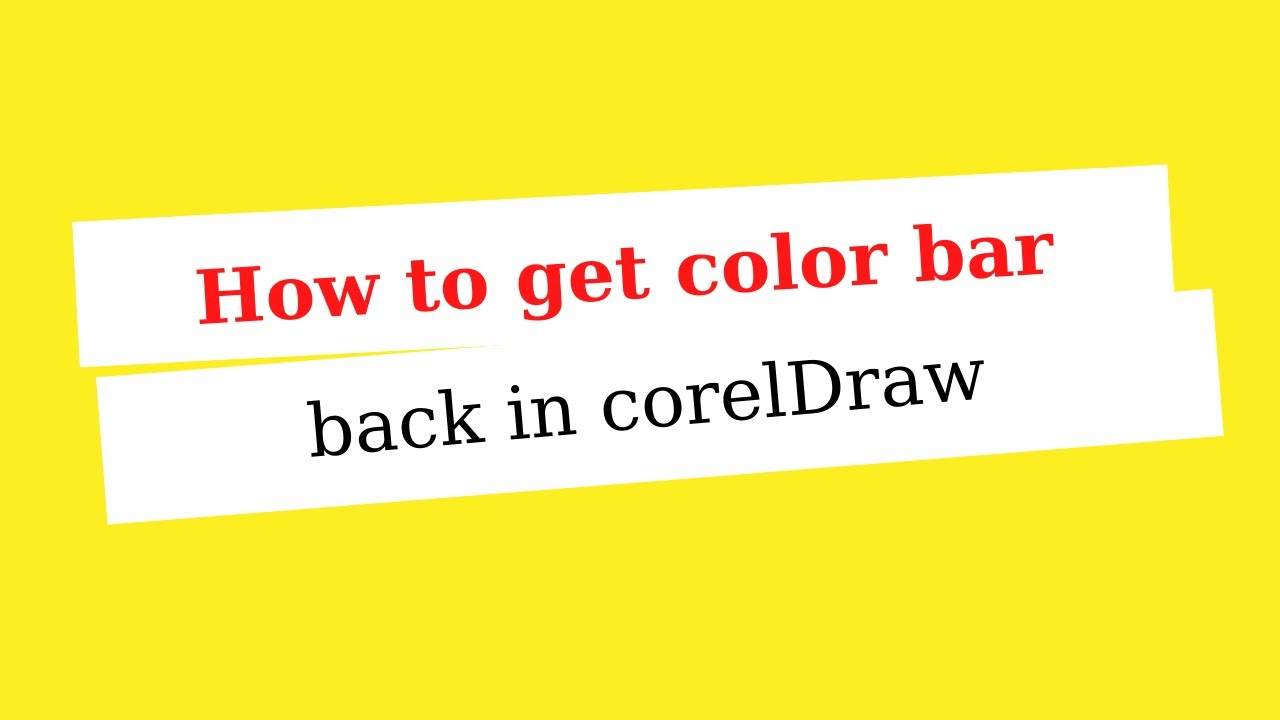 Coreldraw color palette free download - How To Get Color Bar Back In Coreldraw