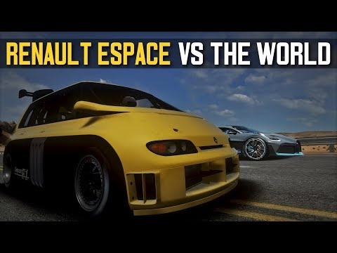 RENAULT ESPACE F1 VS THE WORLD (REGERA, DIVO, CHIRON, TESLA ROADSTER) | ASSETTO CORSA