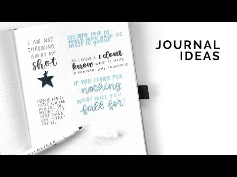 Ways to Journal