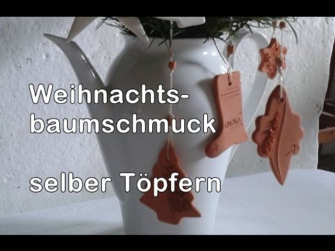 weihnachtsbaumschmuck selber machen t pfern f r anf nger 3 youtube. Black Bedroom Furniture Sets. Home Design Ideas