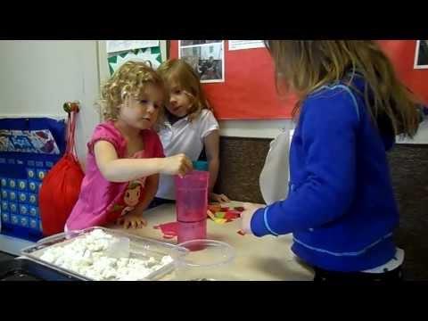 Preschoolers Making Seed Paper