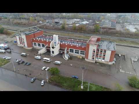 Рынок Рокот, недостроенный Макдоналдс, ЖД вокзал с высоты