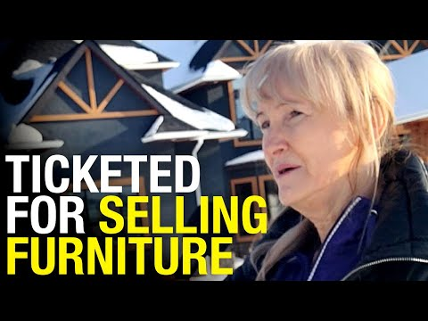 RCMP ticket woman moving furniture after home foreclosed in Alberta: Unauthorized gathering!