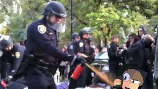 ALMOST GOT PEPPER SPRAYED BY THE POLICE...