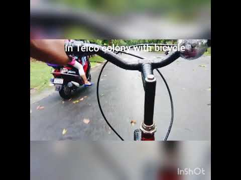 Trip in Telco Colony Jamshedpur ,in monsoon weather,feeling awesome in cycle