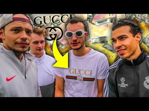 1000 € GUCCI OUTFIT FUßBALL CHALLENGE !