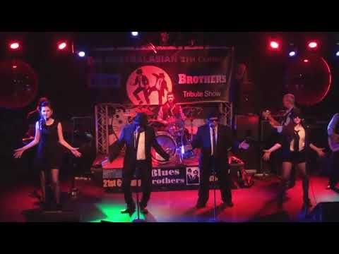 Olivia singing with the Australasian 21st Century Blues Brothers Tribute Show