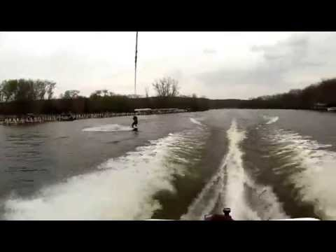 First Wakeboard Session of the Year - Fox River, Algonquin, Illinois - May 8th, 2014