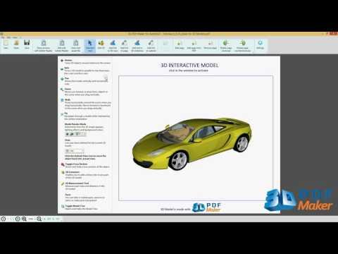 3D PDF Maker For AutoCAD Tutorial 1.  Insert AutoCAD 3D Models In PDF Files