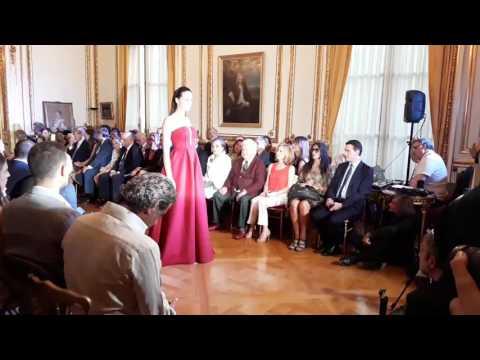 Catwalk of Christophe Guillarmé at the Serbian fashion day 2017