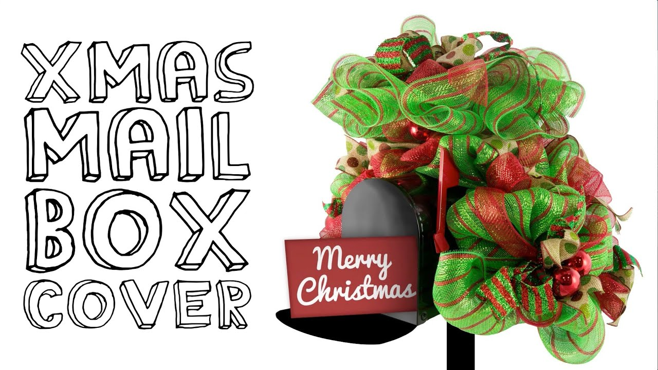 christmas mailbox cover youtube