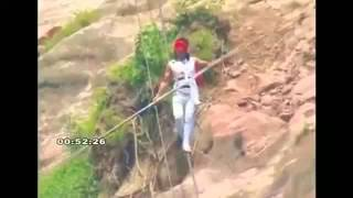 Tightrope walker accident! falls off from 200m!!!