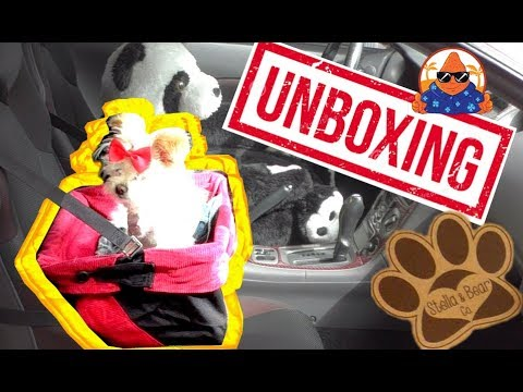 Stella and Bear Cozy Boost for Small Medium Pets Dog Car Booster Seat Unboxing