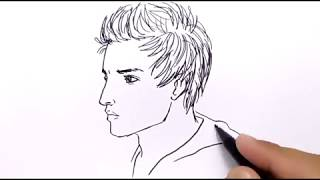 VERY EASY ! how to draw handsome boy for KIDS