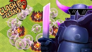 "Clash of Clans - 1 PEKKA + 15 HEALERS! ""SUPER PEKKA"" Epic Fails - (MUST SEE)"