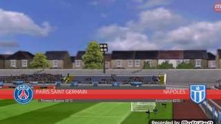 Paris saint germain contra napoli dream league soccer