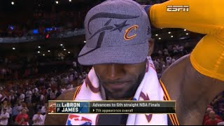 LeBron James almost cries for playing in 6 straight NBA Finals (ECF Game 6 Postgame Interview)
