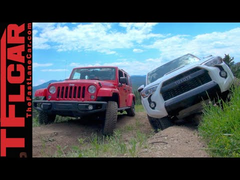Trd Pro 4runner >> 2015 Toyota 4Runner TRD Pro vs Jeep Wrangler Off-Road Review & Misadventure - YouTube