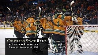 Hockey - CSU Rams vs Central Oklahoma- 11/16/17 thumbnail