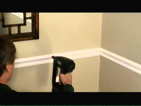 How To Install Chair Rail Video
