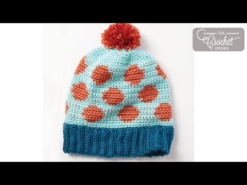 How to Crochet A Hat: Polka Dots