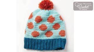 Crochet Hat: Polka Dot