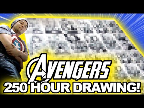250 HOURS To Draw 18 MARVEL MOVIES Before AVENGERS INFINITY WAR!