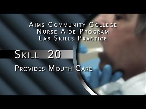 Aims Community College Nurse Aide Program Lab Skills - Skill 20