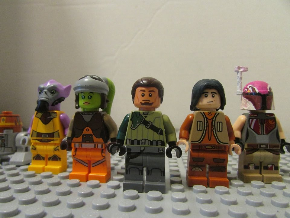 lego star wars rebels minifigure showcase youtube