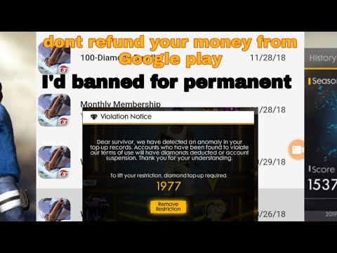 #freefire don't use Google refund trick your I'd will get banned