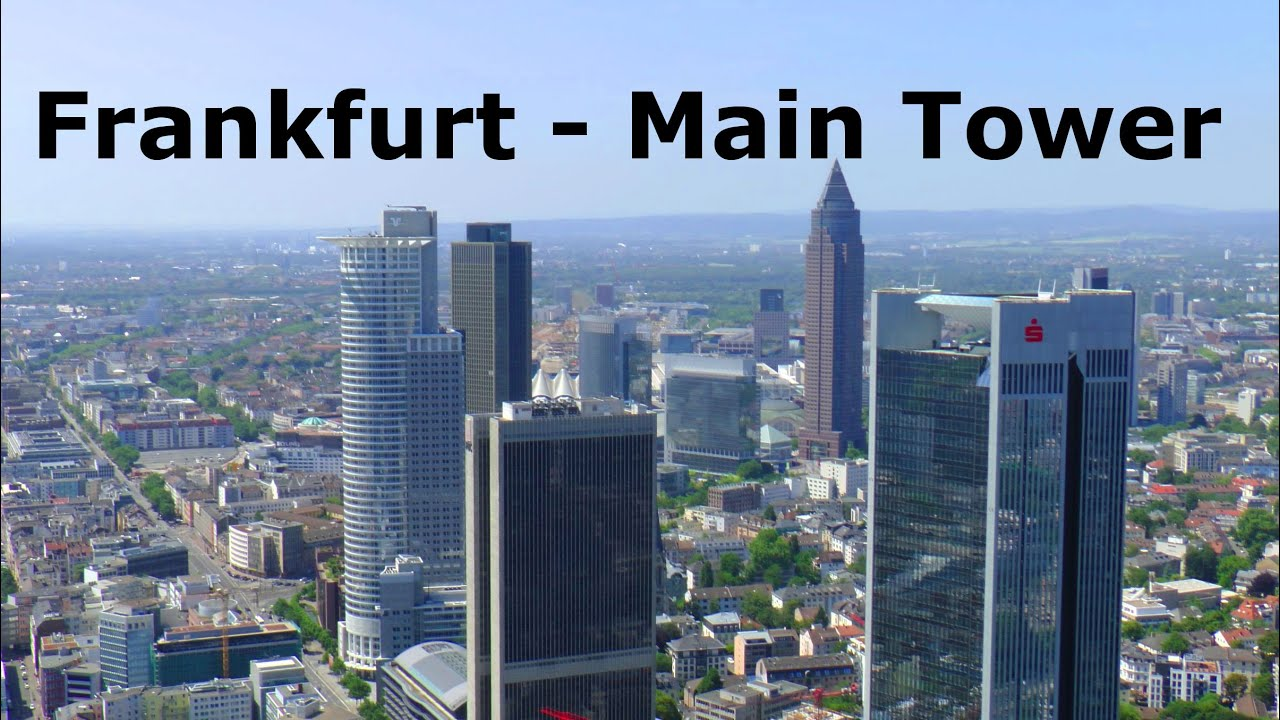 frankfurt main tower elevator ride panoramic views fahrt im aufzug skyline panorama blick. Black Bedroom Furniture Sets. Home Design Ideas