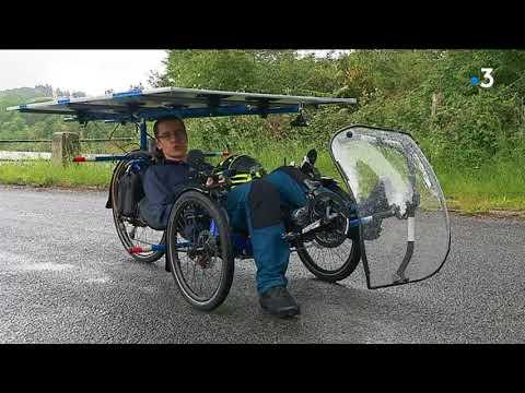Il fait le tour du monde en vélo solaire