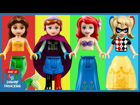 ♥ Learning Colors LEGO Disney Princess...