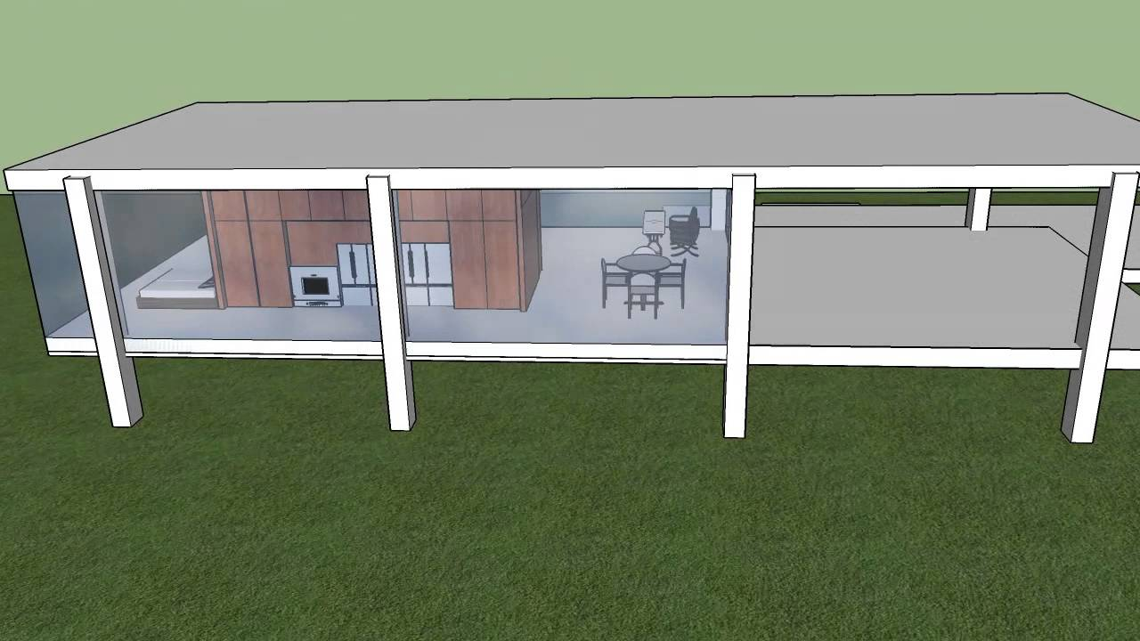 sketchup farnsworth house youtube