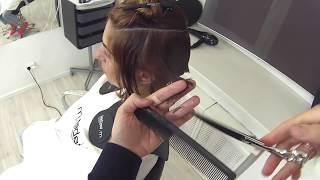 Короткая женская стрижка переходящая градуировка. Академия правильной стрижки. Урок для парикмахеров